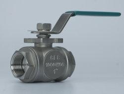 3-х 304/316 поток из нержавеющей стали Mnual шаровой клапан плавающего режима в соответствии с ISO 5211 блока