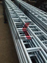 Viga de andaimes escada de aço galvanizado de cruzamento para a capota com forro plataforma petrolífera de andaimes industriais