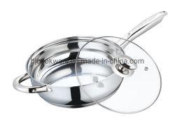 台所道具、調理器具、調理器具セット、ステンレス鋼のフライパン