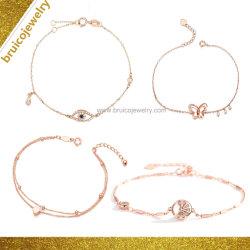 Bijoux en or artificielle Fabricant de bijoux de mode Custom 925 Bracelet à breloque en argent sterling avec Diamond