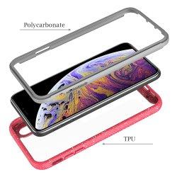 De schokbestendige Flexibele Duidelijke Harde Rugdekking van de Bumper TPU met Geval van de Dekking van de Telefoon van de Cel van het VoorFrame het Volledige Beschermende voor iPhone Maximum Xs