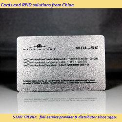 Carta magnetica a strisce in PVC per stampa in argento per i membri VIP