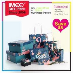 Serviço de impressão personalizado Imee Venda Quente Flamingo Dom Personalizado Caixa de papel e sacos