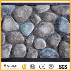 Natürlicher mehrfarbiger schwarzer/grauer/roter/grauer Kiesel-Stein für im Freiendekoration