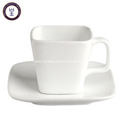 مقهى سكواير الأنيق ذو اللون الأبيض الفائق والسيراميك كانستر شاى