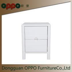 Night Stand/Table d'extrémité robuste facile à ossature de bois blanc de tirer de bacs pour chambre à coucher