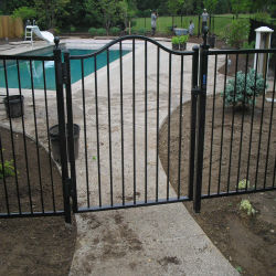 Haut de la boucle métallique en acier Jardin Clôture Barrière porte extérieur
