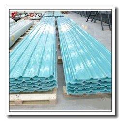 Clarabóias de plástico reforçado por fibra de revestimentos betumados folha plana de produto do painel do teto personalizados de linha de produção na fábrica