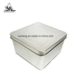 Populaires de forme rectangulaire de l'étain peut pour le parfum de l'emballage avec couvercle de patinage