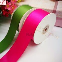 Nastro poliestere stampato all'ingrosso/della fabbrica singolo/doppio del fronte del raso per natale/arco/decorazione/archi/regali