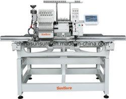 多機能の1+1は混合した産業縫う刺繍機械(Flat+Coiling)を