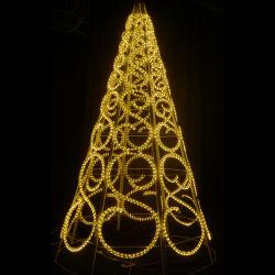 La decoración de Navidad al aire libre de 3m de luz LED de la cuerda de las luces del árbol de Navidad