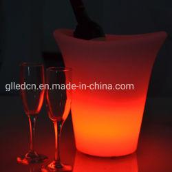 Pilas recargables LED iluminado el plástico cubo de hielo para el evento y el Club de noche