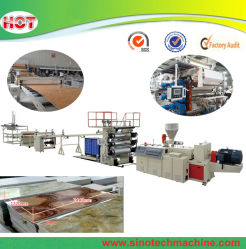 Feuille d'Extrusion pvc imitation marbre Making Machine