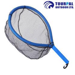 Sich hin- und herbewegendes Fliegen-Fischen-Landung-Netz-Forelle-Netz mit Gumminettobeutel