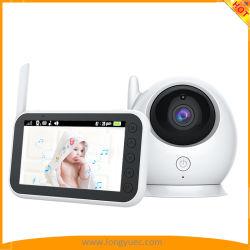 """Moniteur pour bébé, Longyu 720p 5 """" L'affichage HD Moniteur pour bébé avec la caméra vidéo et audio, l'écran IPS, gamme 900FT, audio bidirectionnel, Zoom, nuit en un clic"""