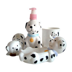 Детский Doggy ванные принадлежности, принадлежности в ванной комнате, мыло блюдо, Sopa Dispener, держатель для зубной щетки