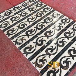 Les lignes torsadées CNC modernes Waterjet couper un sol en marbre de bordures pour sol et mur dans la salle de bains