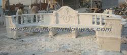 Pierre sculptée de marbre pour chaise de jardin mobilier extérieur (QTC035)