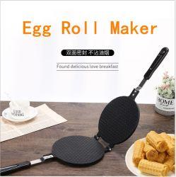 O cone de sorvete Maker Non-Stick waffle cone do bicarbonato de 22cm Rolo de ovos Maker Criador de crepe de molde do molde da bandeja