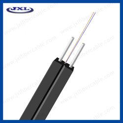 Enige Wijze 2core 2wire van het Jasje van de Kabel LSZH van het Leer van de Kabel van de vezel de Optische Binnen