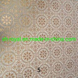 PVCビニールによって薄板にされるギプスの天井のタイル(595*595*7mm 603*603mm*7mm)