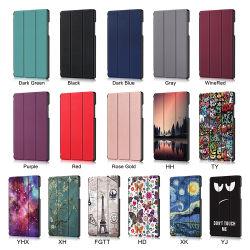 Для Samsung Tab A7 10.4 2020 Sm-T500 Tablet Flip охватывает PU кожаная сумка T505 T507