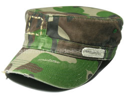 Le meulage lavés affligé Imprimer camouflage militaire de l'armée le capuchon (TRNM022)