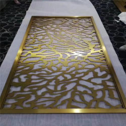 304 feuilles en acier inoxydable de décoration des matériaux de construction de l'écran mur décoratif