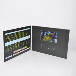 ビデオ本を広告する一義的な5インチのカスタムビデオ挨拶状LCDスクリーンの接触パンフレットTFT