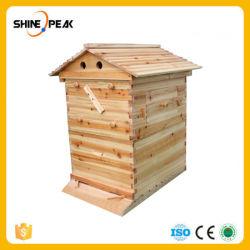 Het automatische Houten Huis van de Bijenkorf voor 7 Hulpmiddelen van de Imker van de Levering van de Bijenkorf van de Bij van de Honing van de Apparatuur van de Imkerij van de Frames van de Bijenkorf Zelf Stromende