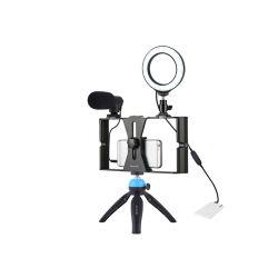 """4 """" 삼각 대를 가진 1개의 생방송 지능적인 전화 부류 홀더 Selfie LED 반지 빛에 대하여 4"""