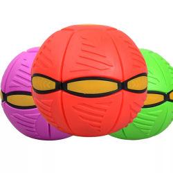 Ovni volando lanzar la bola de disco plano con luz LED Toy Kid jardín al aire libre juego de pelota de playa