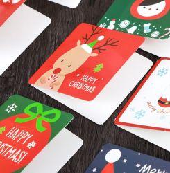 창조적인 크리스마스 귀여운 겹 서류상 카드를 위한 봉투를 가진 크리스마스 카드 24 새로운 한국어