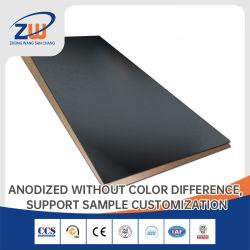 OEM 5083 5082 6061 6063 7075 de aluminio anodizado de aluminio/aluminio recubierto de chapa metálica con Color Negro/Blanco/oro/azul/rojo/rosa/verde/amarillo