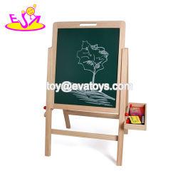 Haute qualité Double côté effaçable planche à dessin pour enfants en bois avec support W12b113