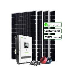 25kw 3 Panneau Solaire système énergétique de la phase de solution pour panneau de montage de toit