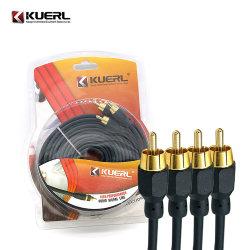 Qualität 5m RCA-Kabel-Verknüpfungs-Kabel-Audio-/videokabel für Auto-Audio