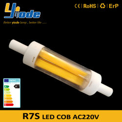 6 واط 220 فولت R7s ضوء LED الأساسي 78 مم