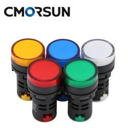 22mm LED-Betriebsanzeige für Meldeleuchte für Frontplattenmontage, rot, gelb Blau