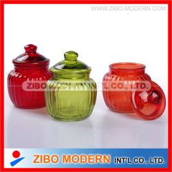 3PC Glass Canister、Glass Food Storage Jar、Glass Container、Glassware