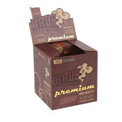 Personalizada Bros mejor calidad de rodadura de color marrón con filtro de papel consejos para el hábito de fumar