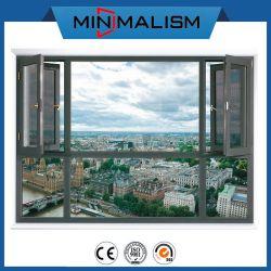 PVC 차일 2.0mm 물자를 가진 알루미늄 두 배 여닫이 창 Windows