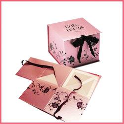 Fabriek van de Leverancier van de Fabrikant van het Vakje van het Karton van de Verpakking van de Gift van het Document van het Poederdonsje van de Make-up van het Karton van de Douane van China de Embleem Afgedrukte Kosmetische Verpakkende