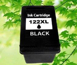 Восстановленный картридж с черными чернилами HP 122XL черный цвет