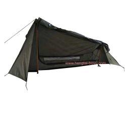 1 personne une porte simple couche tente camping militaire Camouflagetent en fibre de verre