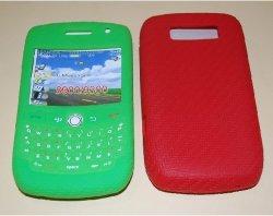 Сетка зерна сотового телефона силиконовый чехол для Blackberry 8900 9300