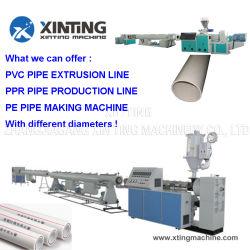 El plástico PE/PP/PVC/PPR tornillo simple/doble tubo corrugado espiral/Tubo conduit bobinado de bobinado de la extrusora extrusora//máquina de reciclaje de corte haciendo Belling