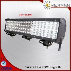 18 بوصة 36 واط، 72 واط، 108 واط، 144 واط، 180 واط، قضيب مصباح LED رباعي الصفوف من طراز CREE بقوة 252W، وشريحة 468W للطرق الوعرة، وTruck، وJeep، وATV، وUTV