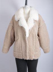 Señoras Sherpa Fleece Chaqueta con cuello solapa